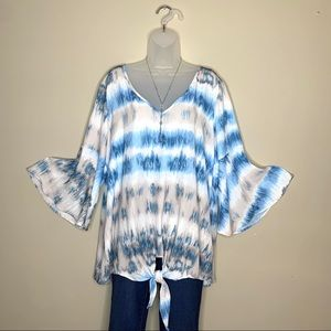 NWT Tunic Blouse with Bell Sleeve
